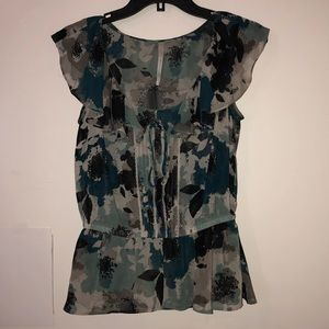 LC Lauren Conrad Small Teal Blouse